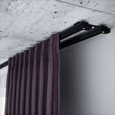 ZS2-150 Czarna szyna aluminiowa podwójna (150 cm) Creativa by Cezar