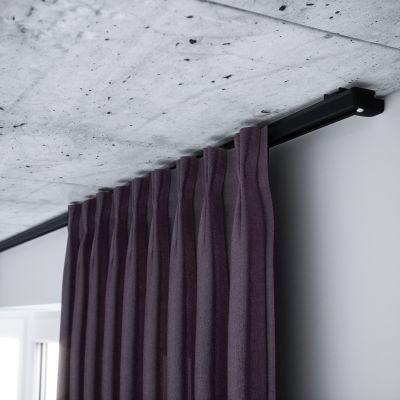 ZS-200 Czarna szyna aluminiowa pojedyncza (200 cm) Creativa by Cezar