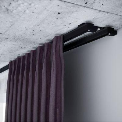 ZS2-200 Czarna szyna aluminiowa podwójna (200 cm) Creativa by Cezar
