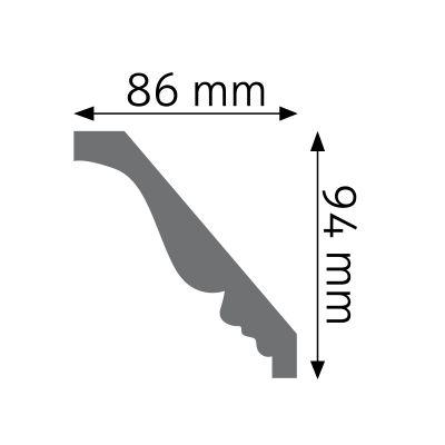 LGZ-09F listwa gzymsowa zdobiona elastyczna Creativa by Cezar