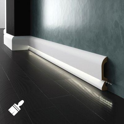 LPC-19M-LE listwa podłogowa malowana z opcją LED Creativa by Cezar
