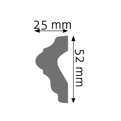 LNG-04 listwa naścienna gładka Creativa by Cezar