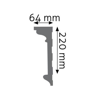 LNG-06 listwa naścienna gładka Creativa by Cezar