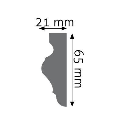 LNG-02F listwa naścienna elastyczna Creativa by Cezar