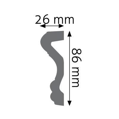 LNG-03F listwa naścienna elastyczna Creativa by Cezar