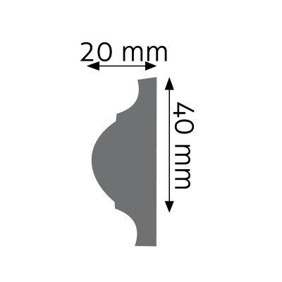 LNG-09F listwa naścienna elastyczna Creativa by Cezar