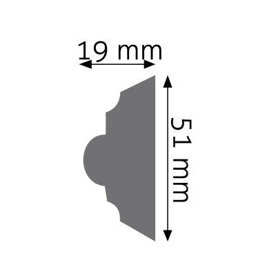 LNZ-04F listwa naścienna zdobiona Creativa by Cezar