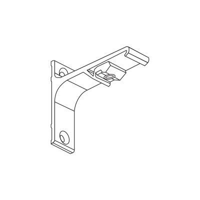Uchwyt ścienny pojedynczy 7.5 cm do szyn karniszowych Creativa ZS/ZD Creativa by Cezar