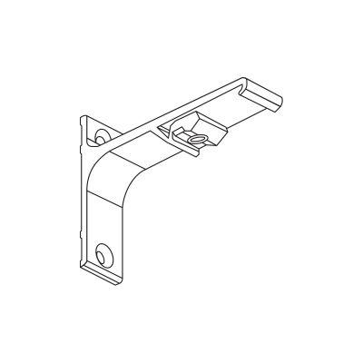Uchwyt ścienny pojedynczy 10 cm do szyn karniszowych Creativa ZS/ZD Creativa by Cezar