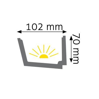 LOC-02 listwa oświetleniowa Creativa by Cezar