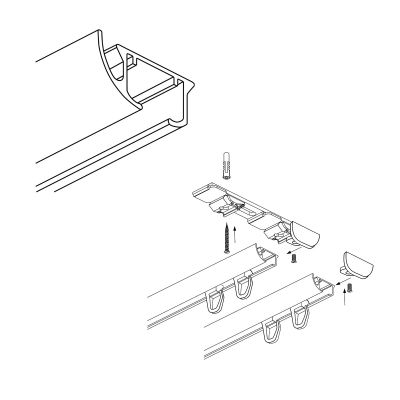 ZD2-150 szyna aluminiowa podwójna (150 cm) Creativa by Cezar