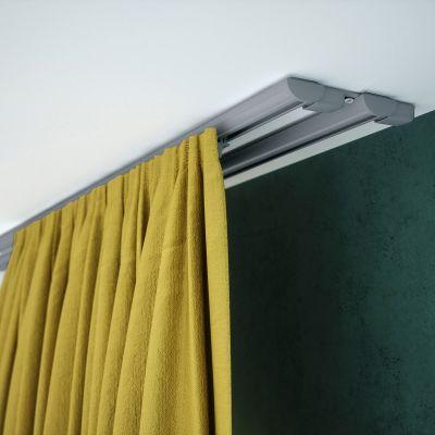 ZD2-150 Szara szyna aluminiowa podwójna (150 cm) Creativa by Cezar