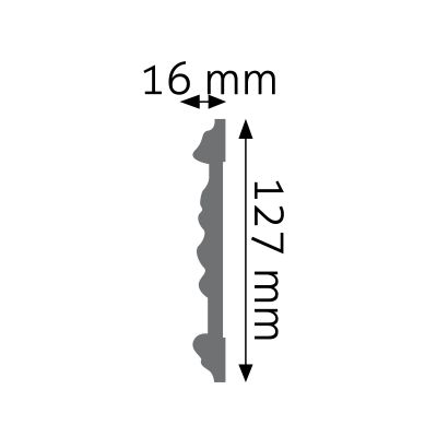 LNZ-02 listwa naścienna zdobiona Creativa by Cezar