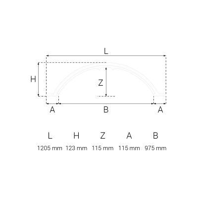 R-02 rozeta sufitowa 120,5 cm Creativa by Cezar
