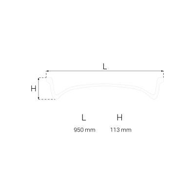 R-22 rozeta sufitowa 95 cm Creativa by Cezar